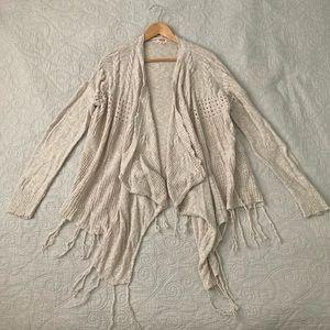 Mossimo cotton drapey cardigan sweater w/tassels
